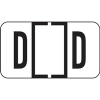 Jeter 5800 Series Labels Letter D 240/Ringbook Pack