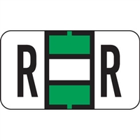 Jeter 5800 Series Labels Letter R 240/Ringbook Pack
