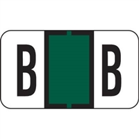 Jeter 7200 Series Labels Letter B 500/Roll