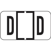 Jeter 7200 Series Labels Letter D 500/Roll