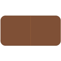 Jeter 9500 Solid Brown Color Labels (500/Roll)