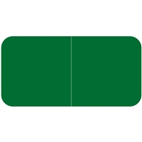 Jeter 9500 Solid Green Color Labels (500/Roll)