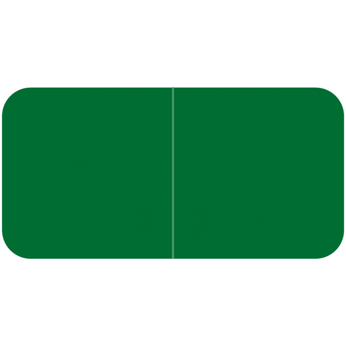 Laminated 3//4H x 1-1//2W Green Solid Designation Label Jeter Compatible Roll of 500