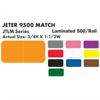 Jeter 9500 Solid Color Label Set (500/Roll)