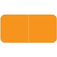 Jeter 9500 Solid Orange Color Labels (500/Roll)
