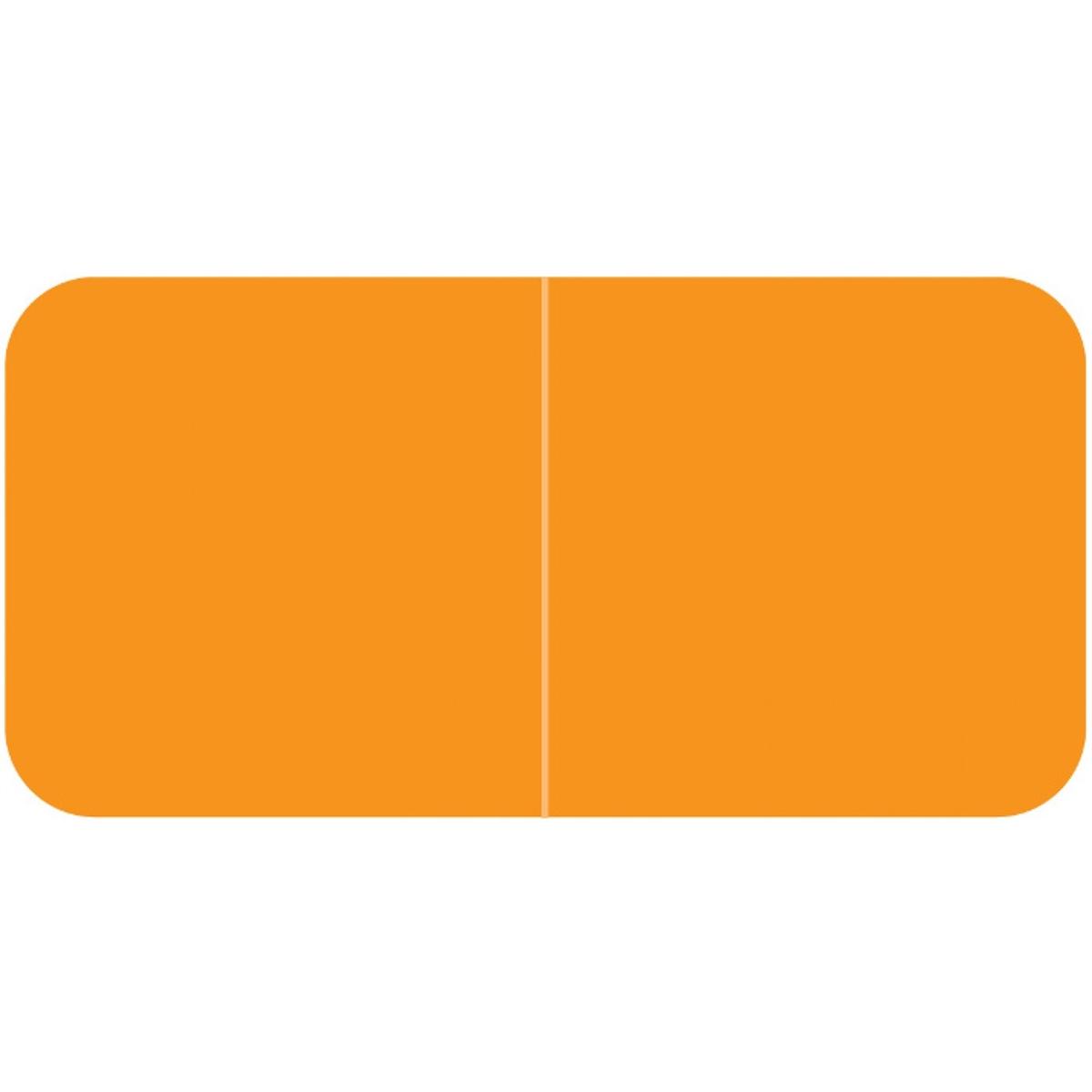 1//2H x 1-1//2W Black Roll of 500 Laminated Barkley Compatible Solid Designation Label