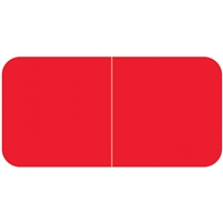 Jeter 9500 Solid Red Color Labels (500/Roll)