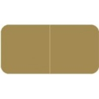 Jeter 9500 Solid Tan Color Labels (500/Roll)