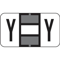 Jeter 7200 Series Labels Letter Y 225/Pack