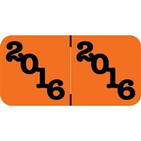 Jeter Compatible Year Labels, 2016, Orange, 3/4 x 1-1/2, 500/Roll