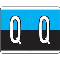 Kardex Alpha Label Letter Q (500/Roll)