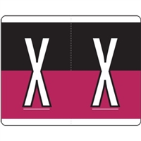 Kardex Alpha Label Letter X (500/Roll)