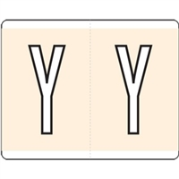 Kardex Alpha Label Letter Y (500/Roll)
