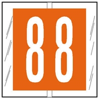 "Col'R'Tab 11500 Labels, 1-1/2"" Numeric Tabs #8, Orange, 500/RL"