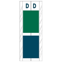 Acme Visible Label Letter D 4 x 1-1/2 102/Pack