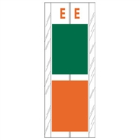 Acme Visible Label Letter E 4 x 1-1/2 102/Pack