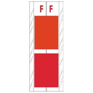 Acme Visible Label Letter F 4 x 1-1/2 102/Pack