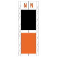 Acme Visible Label Letter N 4 x 1-1/2 102/Pack