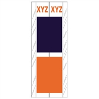 Acme Visible Label Letter XYZ 4 x 1-1/2 102/Pack