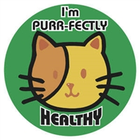 "Children's Stickers, I'm Healthy, Green, 1-3/4"" Circle, 100/Roll"