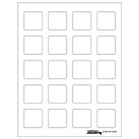 "Tabbies Labels-U-Create Laser Labels, 1-1/2"" x 1-1/2"", White, 200/Pk"