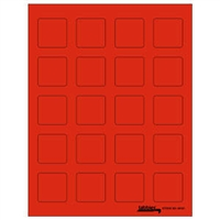 "Tabbies Labels-U-Create Laser Labels, 1-1/2"" x 1-1/2"", Fluorescent Red, 200/Pk"