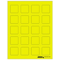 "Tabbies Labels-U-Create Laser Labels, 1-1/2"" x 1-1/2"", Fluorescent Yellow, 200/Pk"