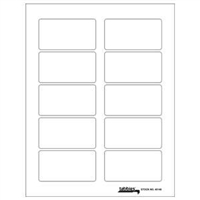 "Tabbies Labels-U-Create Laser Labels, 3-1/4"" x 1-3/4"", White, 100/Pk"