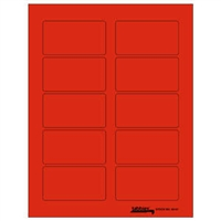 "Tabbies Labels-U-Create Laser Labels, 3-1/4"" x 1-3/4"", Fluorescent Red, 100/Pk"