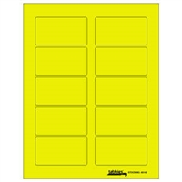 "Tabbies Labels-U-Create Laser Labels, 3-1/4"" x 1-3/4"", Fluorescent Yellow, 100/Pk"