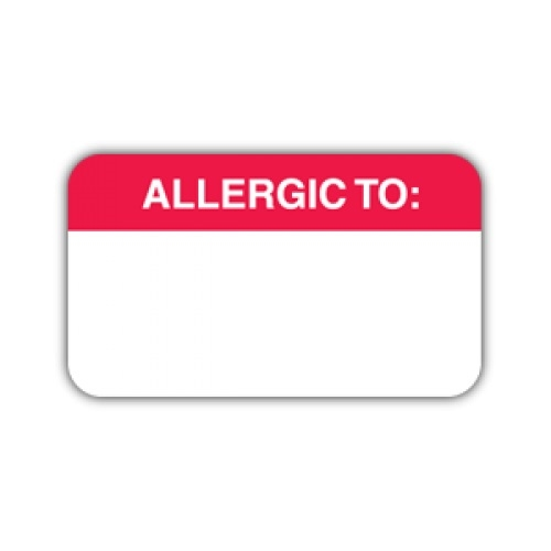 View a larger image of this Allergic To Label