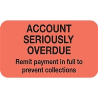 Billing/Collection Labels, Account Seriously Overdue, 250/Box (MAP1400)