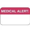 Medical Alert Label, White/Red, 1-1/2 x 7/8, Roll/250