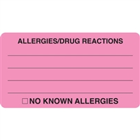 Allergies Drug Reactions Label MAP1730