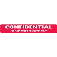 Confidental Label, White/Red, 6-1/2 x 1, Roll/100