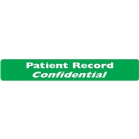 Patient Record Label, Green, 6-1/2 x 1, Roll/100