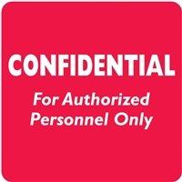 Confidental Label, White/Red, 2 x 2, Roll/500