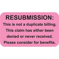 Insurance Claim Labels, Re-submission, 250/Box (MAP2670)