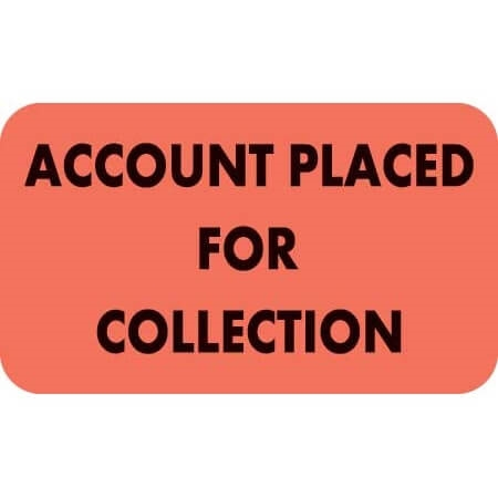 Account Placed For Collection Label MAP3040