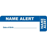 Name Alert Label, Blue, 3 x 1, Roll/250
