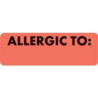 Allergic To Label MAP3240