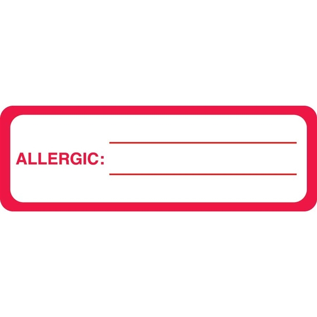 Allergic To Label MAP3360