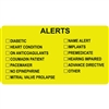 Alerts Label, Yellow, 3-1/4 x 1-3/4, Roll/250