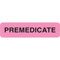 Premedicate Label, Pink, 1-1/4 x 5/16, Roll/500