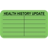 Health History Update Label, Green, 1-1/2 x 7/8, Roll/250