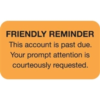 Billing/Collection Labels, Friendly Reminder, 250/Box (MAP4250)