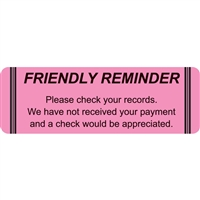 Billing/Collection Labels, Friendly Reminder, 250/Box (MAP4440)