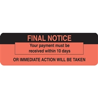 "FINAL NOTICE Label, 3""W x 1""H, 250/RL (MAP4460)"