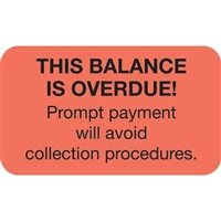 Billing/Collection Labels, This Balance, 250/Box (MAP4490)