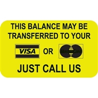 Billing/Collection Labels, Balance Transfer, 250/Box (MAP4630)